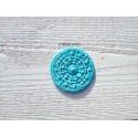 Cabochon de Vallauris 60 mm Turquoise