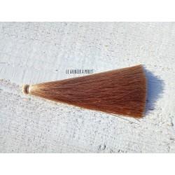 Grand pompon de luxe en soie * Sable 12 cm