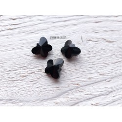 Perle Papillon * 15 x 10 mm * Verre X 2