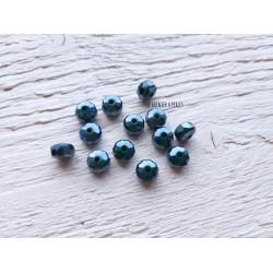 Perles plates à facettes * 8 mm * Hématite AB