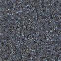 DB1774 Delicas Miyuki 11/0 Grey Lined Opal AB