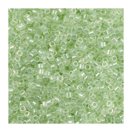 DB1474 Transparent Pale Green Mist Luster  X 5 gr * Delicas Miyuki 11/0