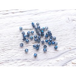 Toupies 3 mm Silver Blue X 50