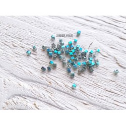 Perles CUBES 2 mm Erinite AB  x 25