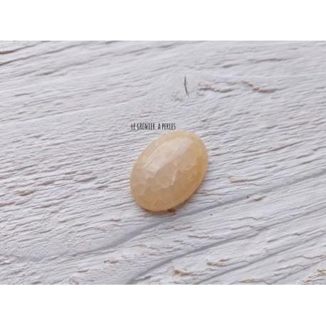 Cabochon Ambre Translucide * 25 x 18 x 5 mm * AGATE