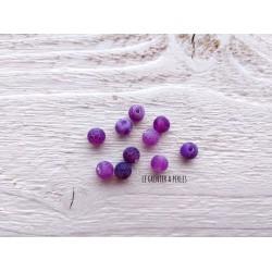 Perles Dragon veins Agate 6 mm X 10 * Violet