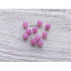 Perles Jade * Rose * 6 mm X 10