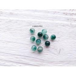 Perles Jade * Vert * 6 mm X 10