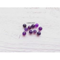 Perles Dragon's veins Agate 6 mm X 10 * Violet