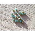 Toupies 6 mm Turquoise Opal AB X 10