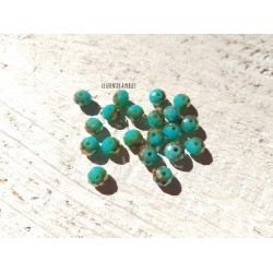 Perles Abacus 6 mm Green Turquoise AB  X 20