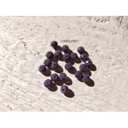 Perles Abacus 6 mm Violet  X 20