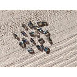 Perles Tubes 5 x 3 mm Bleu AB