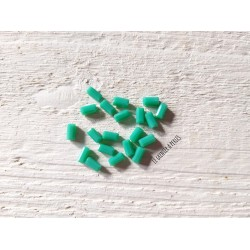 Perles Rectangles 7 x 3 mm Green Turquoise