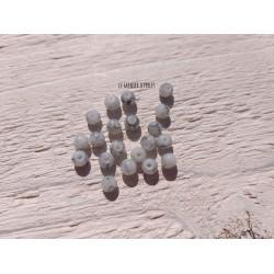 Perles Rondes 4 mm Gris Marbré X 20