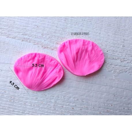 Moule Fleur Pivoine  * Moule silicone pour pâte polymère