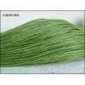 Coton Ciré 1 mm Vert Olive x 5 mètres