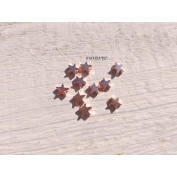 Perles Etoile 6 mm * Hématite Or rose