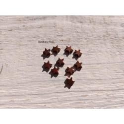 Perles Etoile 6 mm * Hématite Copper