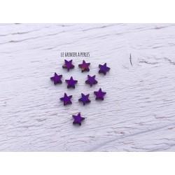 Perles Etoile 6 mm * Hématite Violet