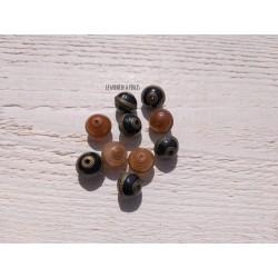 Perles acrylique * Noir et  Marron * LOT