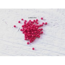 Perles Abacus 2 mm Rouge Opaque  X 50