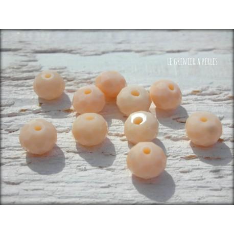 Perles ABACUS 8 mm Beige X 10
