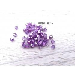 Toupies 3 mm Metallic Purple  X 50
