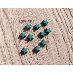 Perles Etoile 6 mm * Caoutchouc Green Turquoise