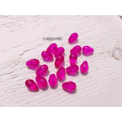5 Perles Gouttes 12 x 8 mm Rose Fuschia