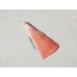 1 Grand pompon de luxe en soie * Rose Saumon 12 cm