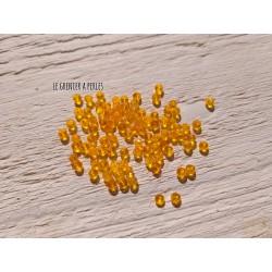 50 Perles Abacus 3 mm Tangerine AB