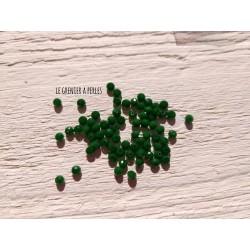 50 Perles Abacus 3 mm Vert Opaque AB