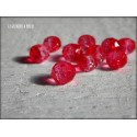 Perles ABACUS 8 mm Rouge Transparent Bicolore X 10