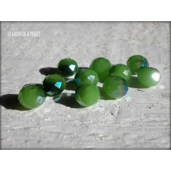 Perles ABACUS 8 mm Green AB X 10