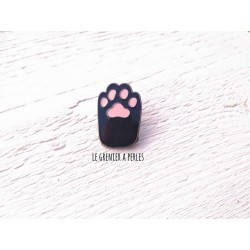 Pin's Patte de chat Noir
