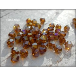 Toupies 4 mm Smoked Topaz AB