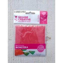 """Plaque de texture """" Monstera """" pour pâte polymère"""