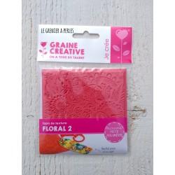 """Plaque de texture """" Floral 2 """" pour pâte polymère"""