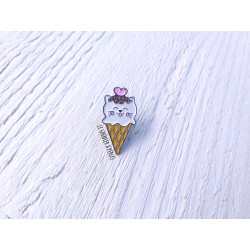 Pin's Chat Cornet de glace Kawaii