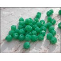 Toupies 4 mm Green Turquoise Opaque X 50