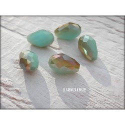 Perles Gouttes 12 x 8 mm Turquoise Opal AB X 5