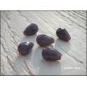 Perles Gouttes 12 x 8 mm Violet X 5