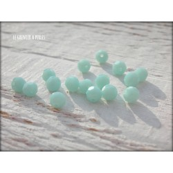 Perles Rondes Facettées 4 mm Light Turquoise X 25