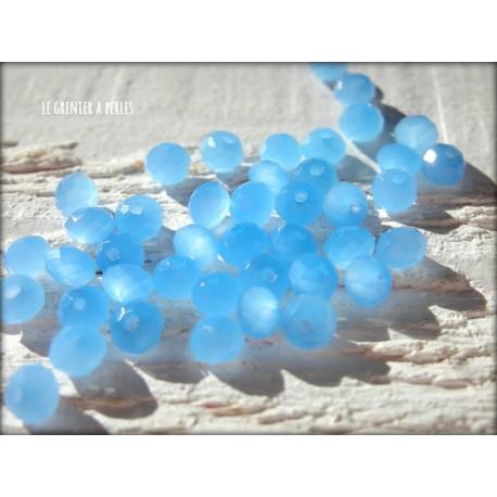 Perles Abacus 3 mm Bleu Opal X 50