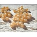 Perles Abacus 3 mm Pêche Irisé X 50