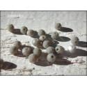 Perles Rondes Facettées 4 mm Grey X 25