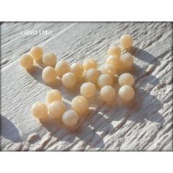 Perles Rondes Facettées 4 mm Porcelaine X 25