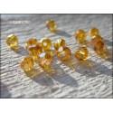 Perles Rondes Facettées 4 mm Topaz AB X 25