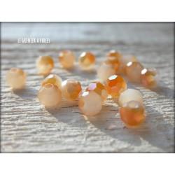 Perles Rondes Facettées 4 mm Jade Doré X 25